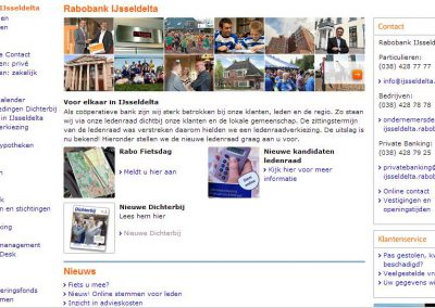 Oude homepage