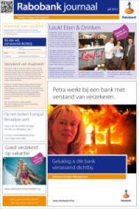 Redactie en copywriting maandelijks Rabobank journaal