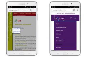 responsive menu smartphone