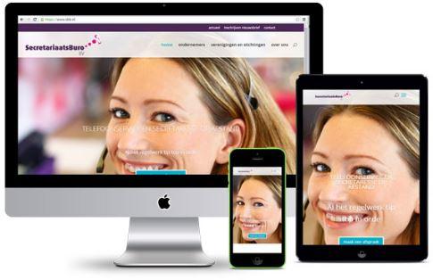 nieuwe full responsive website SecretariaatsBuro door Coconut-Communicatie