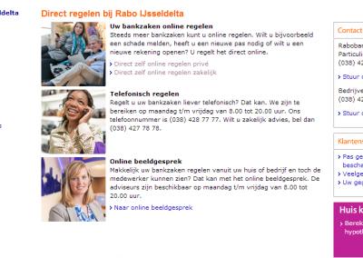 Webmigratie Rabobank IJsseldelta