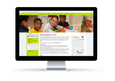 Webadvies, coördinatie en webteksten KDV Kiekeboe