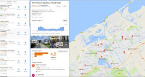 2. Google maps vermelding